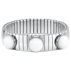 Bransoletki damskie: Bransoletka w kolorze srebrnym z jadeitami