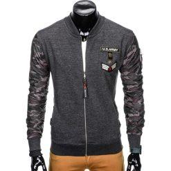 Bluzy męskie: BLUZA MĘSKA ROZPINANA BEZ KAPTURA B807 - GRAFITOWA