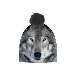Czapka hauer WOLF. Czarne czapki zimowe męskie marki Hauer, z nadrukiem, z polaru. Za 69,00 zł.