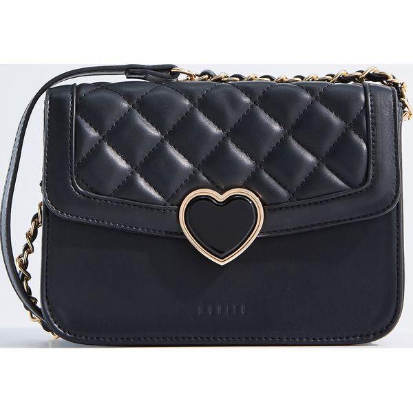 411d4b4190577 Mała torebka z pikowaniem - Czarny - Czarne torebki klasyczne ...