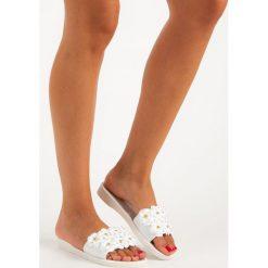 Klapki damskie: Damskie klapki meliski FASHION białe