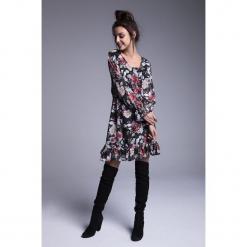 Naoko - Sukienka Sophia. Szare długie sukienki marki NAOKO, l, z elastanu, casualowe. Za 219,90 zł.