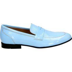 Mokasyny - 425-30 BLUE. Niebieskie mokasyny damskie marki Venezia, ze skóry. Za 299,00 zł.