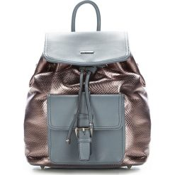 Plecak damski 87-4Y-773-S. Brązowe plecaki damskie marki Wittchen, z motywem zwierzęcym. Za 319,00 zł.