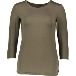 Koszulka piżamowa w kolorze khaki. Brązowe koszule nocne i halki marki Naturana, z okrągłym kołnierzem. W wyprzedaży za 82,95 zł.
