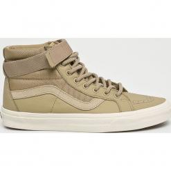 Vans - Buty Sk8-Hi Reissue Strap. Szare buty skate męskie Vans, z materiału, na sznurówki. W wyprzedaży za 349,90 zł.