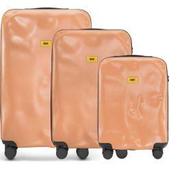 Walizki Icon w zestawie 3 el. matowy różowy. Szare walizki marki Crash Baggage, z materiału. Za 2628,00 zł.