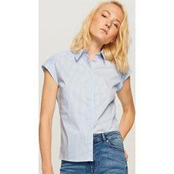 Koszula z krótkimi rękawami - Niebieski. Niebieskie koszule damskie marki Reserved, z krótkim rękawem. W wyprzedaży za 39,99 zł.