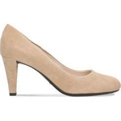 Czółenka FRIDA. Brązowe buty ślubne damskie Gino Rossi, ze skóry, na szpilce. Za 224,95 zł.