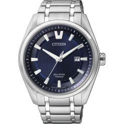 ZEGAREK CITIZEN Titanium AW1240-57L. Niebieskie zegarki męskie CITIZEN, ze stali. Za 980,00 zł.