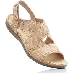 Wygodne sandały bonprix piaskowy. Brązowe sandały damskie bonprix. Za 99,99 zł.