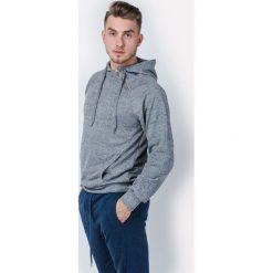 Bluzy męskie: Melanżowa bluza męska z kapturem