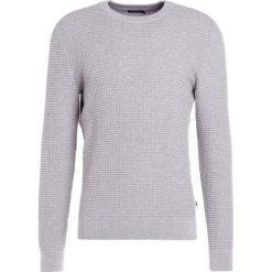 Swetry klasyczne męskie: J.LINDEBERG LEXTER SQUARE STRUCTURE Sweter grey melange