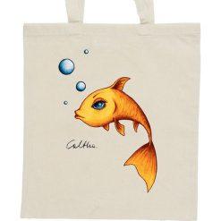 Shopper bag damskie: Złota rybka – torba – 2 kolory
