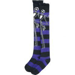 Miasteczko Halloween Jack Zakolanówki czarny/jasnofioletowy. Fioletowe skarpetki damskie marki FOUGANZA, z bawełny. Za 79,90 zł.