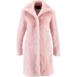 Płaszcze damskie: Płaszcz ze sztucznego futerka bonprix pastelowy jasnoróżowy