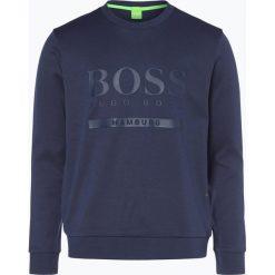 Bejsbolówki męskie: BOSS Athleisure - Męska bluza nierozpinana, niebieski