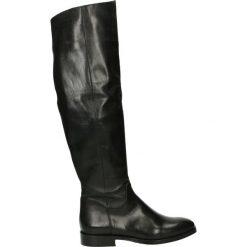 Kozaki - NELLY-D-66 NE. Czarne buty zimowe damskie marki Venezia, z materiału, na obcasie. Za 659,00 zł.