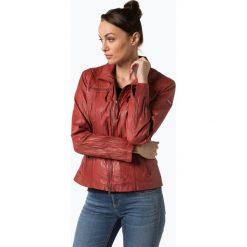 Cabrini - Damska kurtka skórzana, czerwony. Czerwone kurtki damskie Cabrini, ze skóry. Za 899,95 zł.