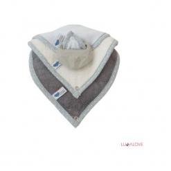 SupeRRO Baby HEVEA Set niebieski, kauczukowy (LLV08756). Niebieskie śliniaki marki LullaLove, z kauczuku. Za 90,95 zł.