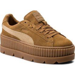Sneakersy PUMA - Cleated CreeperSuede 366268 02 Golden Brown/Lark. Brązowe sneakersy damskie Puma, z materiału. W wyprzedaży za 409,00 zł.