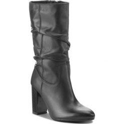 Kozaki ANN MEX - 8921 01S Czarny. Czarne buty zimowe damskie Ann Mex, ze skóry ekologicznej, przed kolano, na wysokim obcasie. Za 439,00 zł.