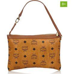 Torebki klasyczne damskie: Skórzana torebka w kolorze jasnobrązowym – 23 x 16 x 1,2 cm