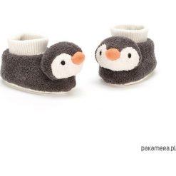 Buciki z pingwinami 10 cm. Szare buciki niemowlęce chłopięce Pakamera. Za 125,00 zł.