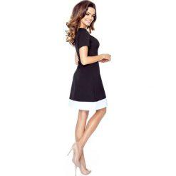 Sukienki hiszpanki: Olivia– sukienka z imitacją kołnierzyka czarny