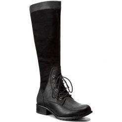 Kozaki JENNY FAIRY - WS1216-11A Czarny. Czarne buty zimowe damskie Jenny Fairy, z materiału, na obcasie. Za 159,99 zł.