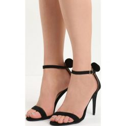 Rzymianki damskie: Czarne Sandały Cute Mouse