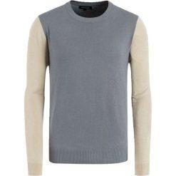 Swetry klasyczne męskie: Sweter w kolorze beżowo-szarym