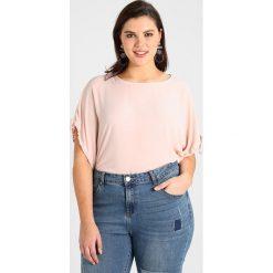 Bluzki asymetryczne: Dorothy Perkins Curve DRAWCORD CUFF TEE Bluzka blush