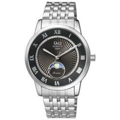 Zegarek Q&Q Męski z fazami księżyca Q&Q QZ10-208 Klasyczny srebrny. Szare zegarki męskie Q&Q, srebrne. Za 209,69 zł.