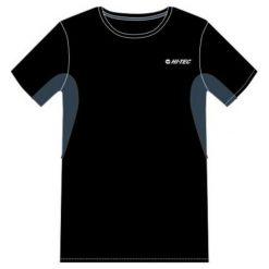 Hi-tec Koszulka męska Redan Black/Blue Wing Teal r. L. Czarne t-shirty męskie Hi-tec, l. Za 47,12 zł.