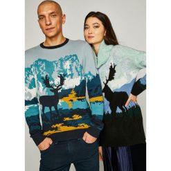 Medicine - Sweter 9_Scottish Modernity. Czarne swetry klasyczne męskie MEDICINE, l, z bawełny, z okrągłym kołnierzem. Za 129,90 zł.