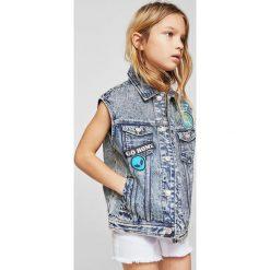 Mango Kids - Bezrękawnik dziecięcy Best 104-164 cm. Fioletowe kurtki dziewczęce przeciwdeszczowe marki OLAIAN, z elastanu, sportowe. W wyprzedaży za 89,90 zł.