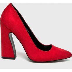 Public Desire - Czółenka. Czerwone buty ślubne damskie marki Public Desire, z materiału, na obcasie. Za 169,90 zł.