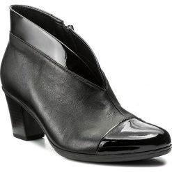 Botki GABOR - 75.616.97 Schwarz. Czarne buty zimowe damskie Gabor, z materiału, na obcasie. W wyprzedaży za 299,00 zł.
