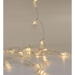 Lampki klipsy - Biały. Białe klipsy damskie Sinsay. Za 24,99 zł.