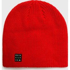 Quiksilver - Czapka. Różowe czapki zimowe męskie Quiksilver, na zimę, z dzianiny. Za 99,90 zł.