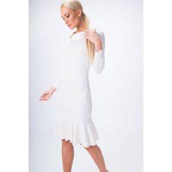 Sukienka w stylu syrena kremowa 6564. Białe sukienki Fasardi, l. Za 44,00 zł.