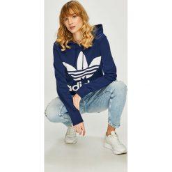 Adidas Originals - Bluza. Szare bluzy z kapturem damskie adidas Originals, z nadrukiem, z bawełny. Za 279,90 zł.