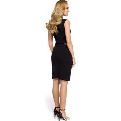 EMILY Sukienka ze wstawkami tiulowymi w talii - czarna. Czarne sukienki na komunię Moe, z bawełny, bez rękawów. Za 99,00 zł.