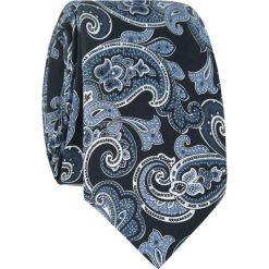 Jedwabny krawat KWWR007014. Niebieskie krawaty męskie Giacomo Conti, z jedwabiu. Za 169,00 zł.