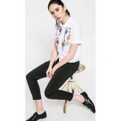 Only - Koszula. Szare koszule damskie marki ONLY, s, z bawełny, casualowe, z klasycznym kołnierzykiem, z krótkim rękawem. W wyprzedaży za 39,90 zł.