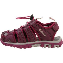 HiTec COVE Sandały trekkingowe grape wine/amaranth/boysenberry. Czerwone sandały chłopięce Hi-tec, z materiału. Za 169,00 zł.