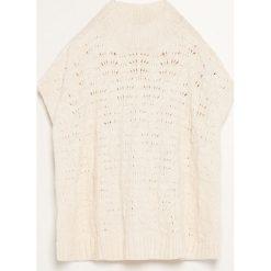 Ponczo - Kremowy. Białe poncza marki Reserved, l, z dzianiny. Za 149,99 zł.