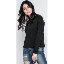 Vero Moda - Bluza. Czarne bluzy damskie marki Vero Moda, l, z bawełny, bez kaptura. W wyprzedaży za 49,90 zł.