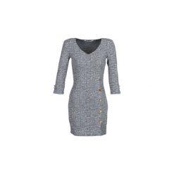 Sukienki krótkie Guess  NATALIE. Niebieskie sukienki hiszpanki Guess, l, z krótkim rękawem, mini. Za 529,00 zł.